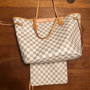 Handbags - White checkered bag